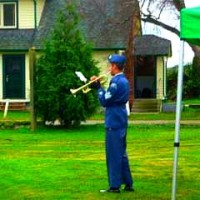 A Lone Bugler Plays Taps